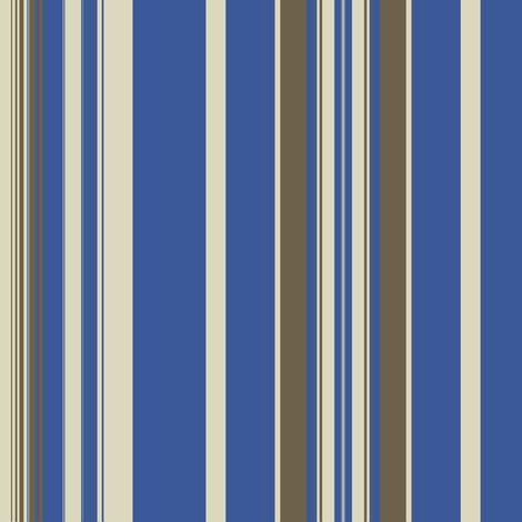 Blue Mud Linen Stripe fabric by marie_s on Spoonflower - custom fabric