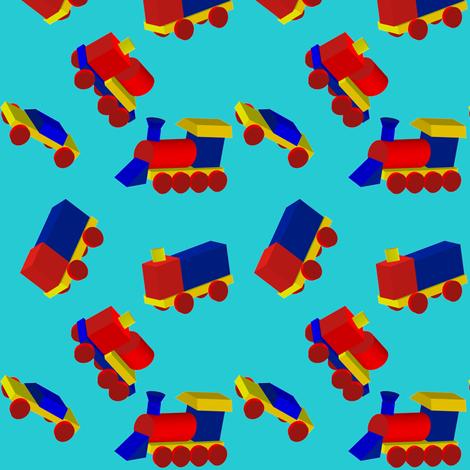 Block Trucks on Sky Blue fabric by carmenscottagecreations on Spoonflower - custom fabric