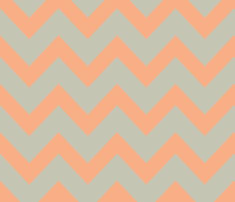 chevron - salmon & gray fabric by ravynka on Spoonflower - custom fabric