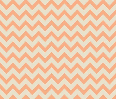 chevron - salmon & off white fabric by ravynka on Spoonflower - custom fabric