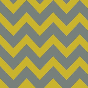 chevron - gold & gray
