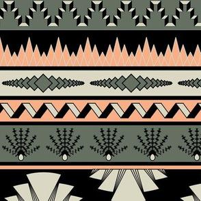 Art deco stripes - salmon