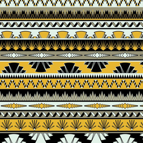 Art deco stripes - yellow