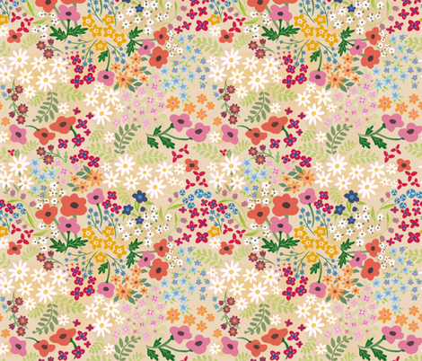Spring Flowers fabric by thalita_dol on Spoonflower - custom fabric