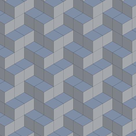 3d cubes fabric by ravynka on Spoonflower - custom fabric