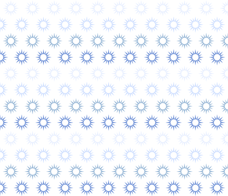 Sun Mirrors in ombre blue fabric by domesticate on Spoonflower - custom fabric