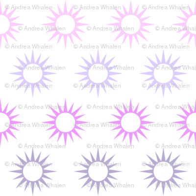 Sun Mirrors in multi violets