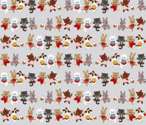 Fellow Critters fabric by thalita_dol on Spoonflower - custom fabric