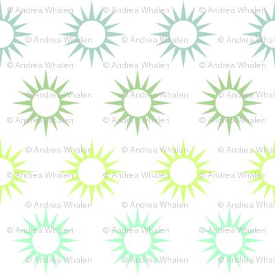 Sun Mirrors in multi greens