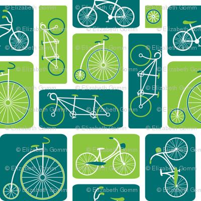 Retro green bicycle love