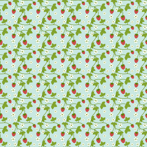Strawberry Patch fabric by inktreepress on Spoonflower - custom fabric