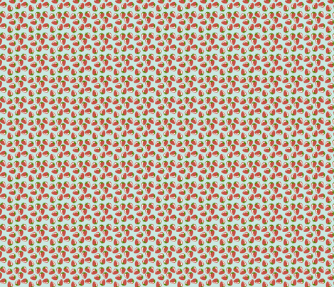 Berries on Blue fabric by inktreepress on Spoonflower - custom fabric
