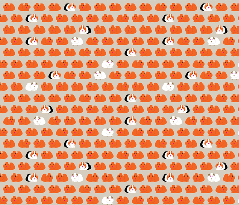 Dotty pigs fabric by ebygomm on Spoonflower - custom fabric