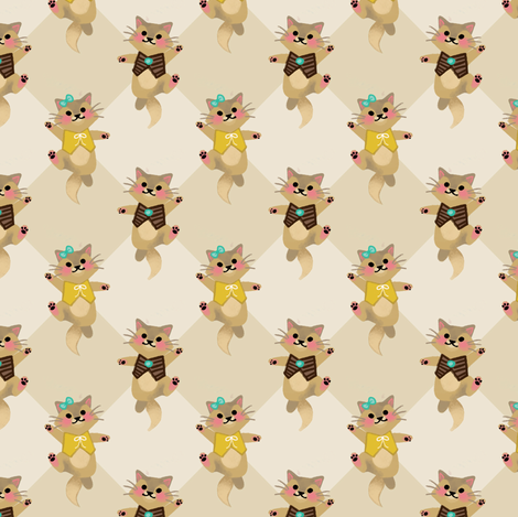 Cool Kittens fabric by thalita_dol on Spoonflower - custom fabric
