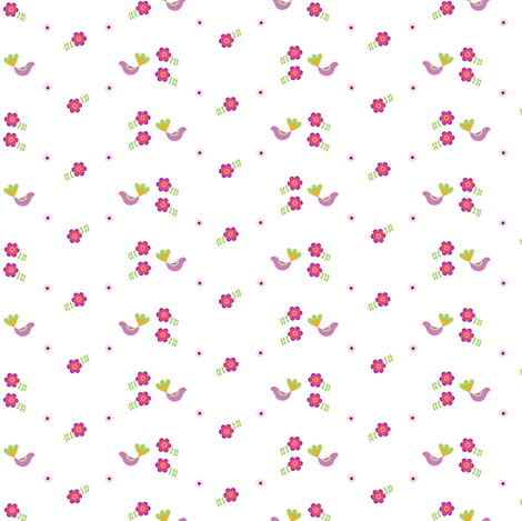 Birdy  fabric by forestwooddesigns on Spoonflower - custom fabric