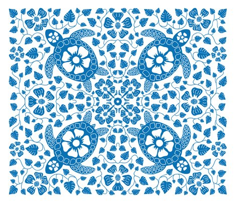 Rrhawaiian_quilt_v10_white_flowers_on_turtle_rectangle_indigo.ai_shop_preview