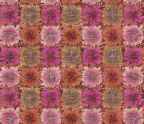 Dreamy Geo in pink and green fabric by mktextile on Spoonflower - custom fabric