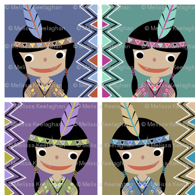 Native American Girl colors