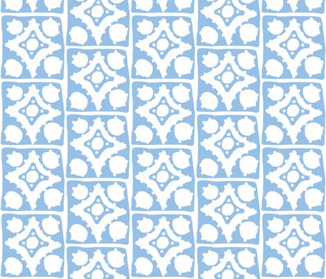 Spotty Diamond Tile (blue) fabric by pattyryboltdesigns on Spoonflower - custom fabric