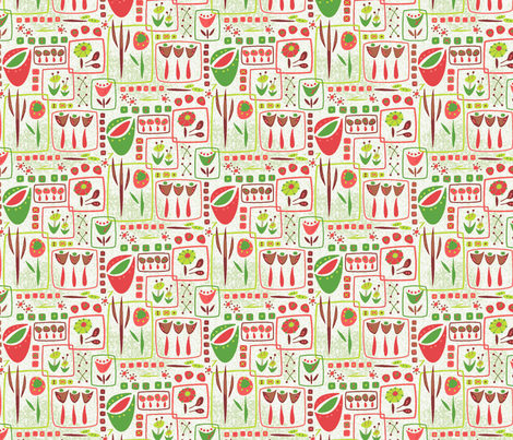 Flower Boxes fabric by mktextile on Spoonflower - custom fabric