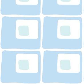 Square Spots (sky blue and light aqua)