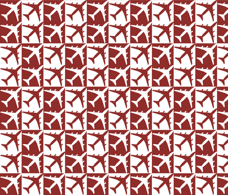 Red Plane Checker fabric by toothpanda on Spoonflower - custom fabric