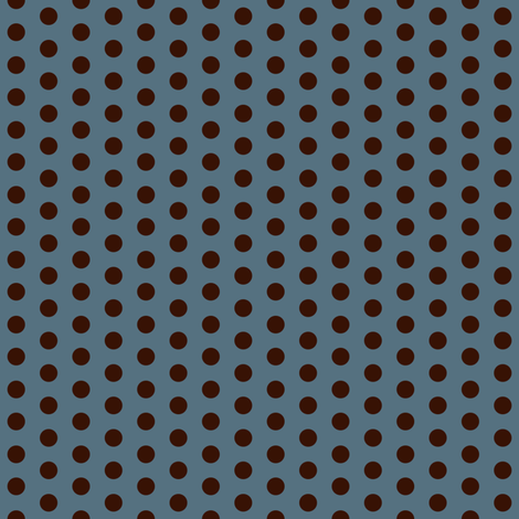Crossfit Coordinate Choco Dots on Blue fabric by cksstudio80 on Spoonflower - custom fabric