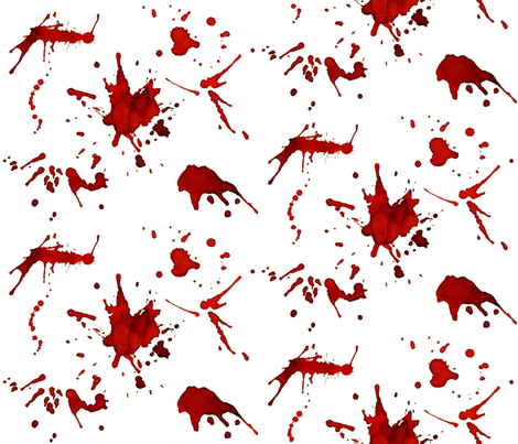 WHITE WALL BLOOD SPLATTERS fabric by bluevelvet on Spoonflower - custom fabric