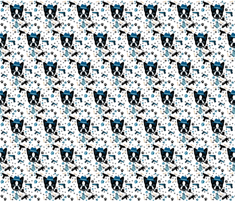 DUKE TERRIERS fabric by bluevelvet on Spoonflower - custom fabric