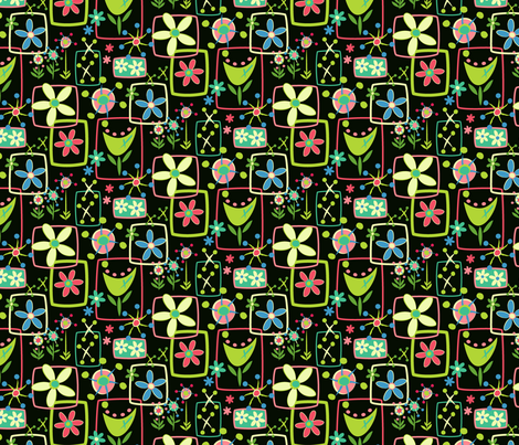 Tulips and Cartwheels fabric by mktextile on Spoonflower - custom fabric