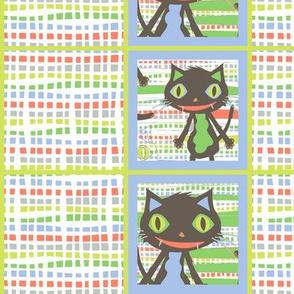 Rocket Cat Squares Mini (white)