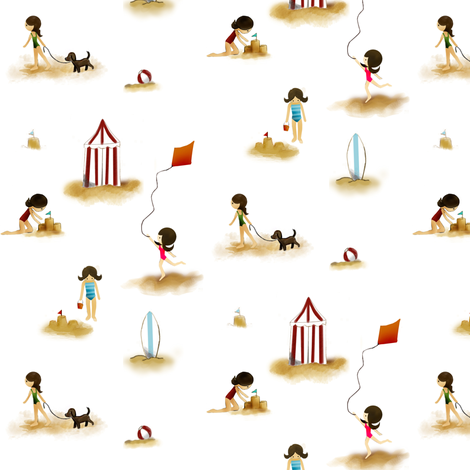 Playing with Sand fabric by natitys on Spoonflower - custom fabric