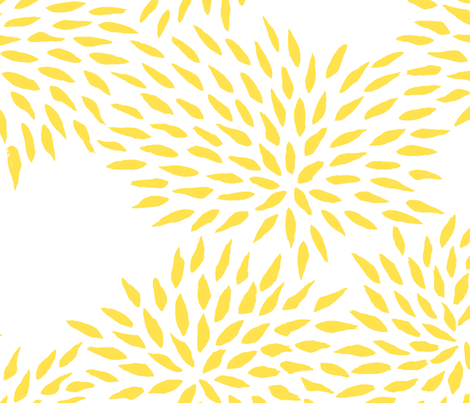 Summer Mums in sunshine fabric by domesticate on Spoonflower - custom fabric