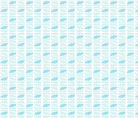 Dotty Spiky Pod (light aqua & aqua) fabric by pattyryboltdesigns on Spoonflower - custom fabric