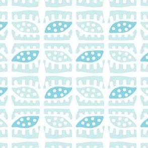 Dotty Spiky Pod (light aqua & aqua)