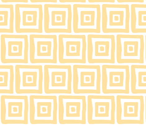 Retro Wonky Square (sunshine) fabric by pattyryboltdesigns on Spoonflower - custom fabric