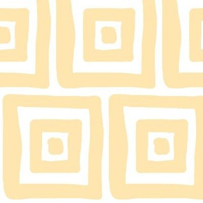 Retro Wonky Square (sunshine)