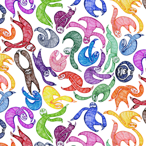 Gobs o' Sloths fabric by ceanirminger on Spoonflower - custom fabric
