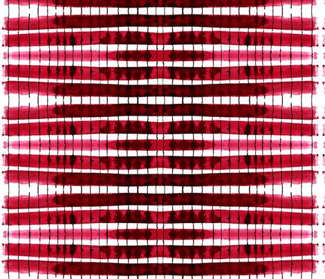 cestlaviv_kitchen stripes red fabric by cest_la_viv on Spoonflower - custom fabric