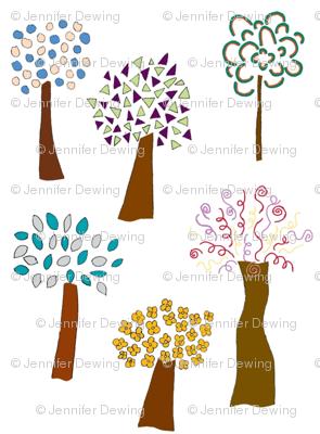 White Whimsical Trees
