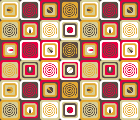 Range Cubes fabric by modgeek on Spoonflower - custom fabric