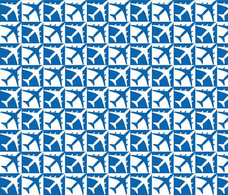 Dark Blue Plane Check  fabric by toothpanda on Spoonflower - custom fabric