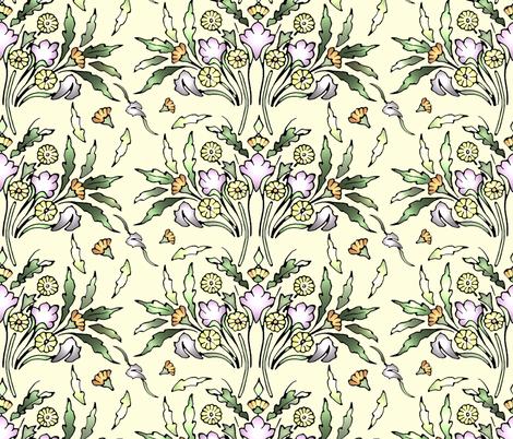 Aurora's Garden fabric by rima on Spoonflower - custom fabric