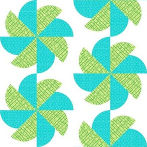 Blue-Green Pinwheel