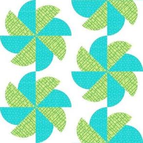 Blue-Green Pinwheel