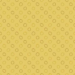 Pencil Dot in Mustard