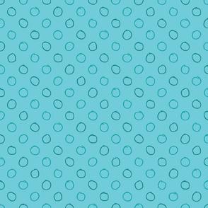 Pencil Dot in Aqua