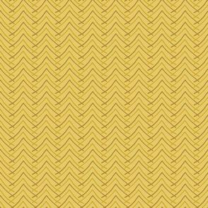 Pencil Chevron in Mustard
