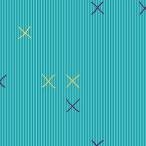 X's in Aqua