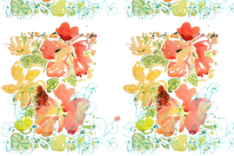 cestlaviv_ bienvenue dans mon jardin fabric by cest_la_viv on Spoonflower - custom fabric